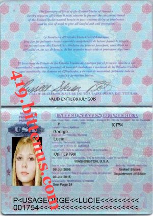 LUCIE GEORGE INTERNATIONAL PASSPORT