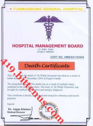Death certificates rwanda death certificate tubmanburg general hospital kigali rwanda philip desmond from the amina desmond story yadclub Gallery