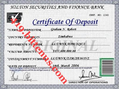 Certificates of Deposit - UK