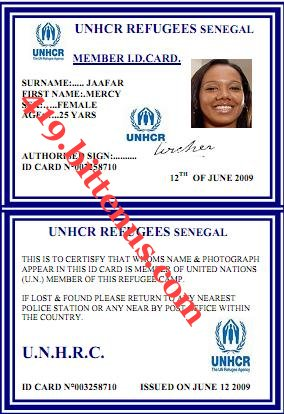 ID CARD REFUGEE