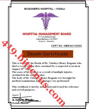 THE DEATH CERTIFICATE OF DR NDADAYE-1
