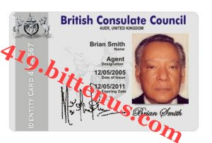 BRIAM SMITH ID CARD