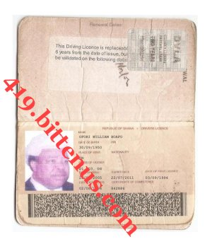 Driving License Boafo William Ofori
