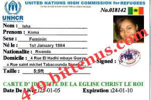 My refugees id