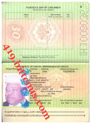 PASSPORT Boafo William Ofori