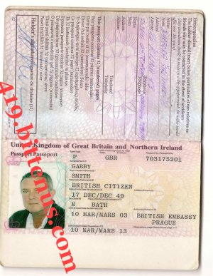 GABBY SMITH PASSPORT