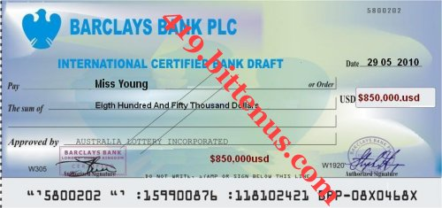 BANK DRAFT TO
