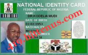My national identity card 1