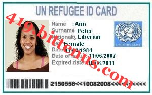 My refugee ID card Ann Petter