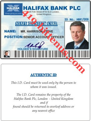 HARRISON STEVE STAFF ID CARD