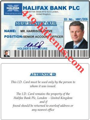 Id Drivers License - Uk Card