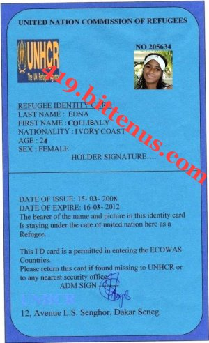 My united nations id card