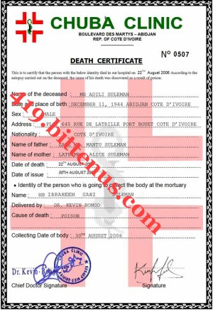 419ttenus death certificates death certificate suleman yadclub Image collections