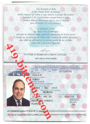 PHILLIP PERRY PASSPORT