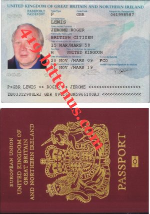 Jerome Lewis Passport