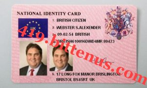 National Identity Card-WEBSTER S