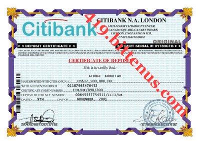 Certificates of deposit uk deposit certificate yelopaper Choice Image