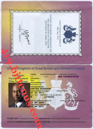KEN WASHINGTON PASSPORT COPY