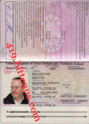 Kelvins passport