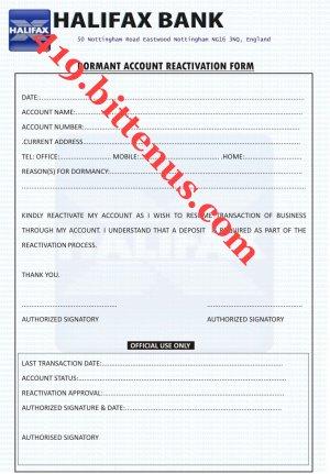 Dormant Accounts Form ~ CVEPCPI