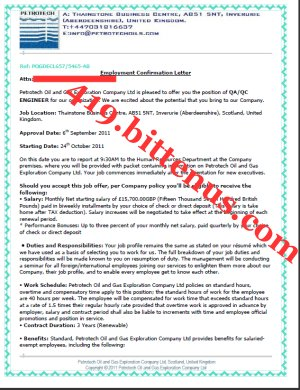 Employment Confirmation Letter Job Confirm Letter With