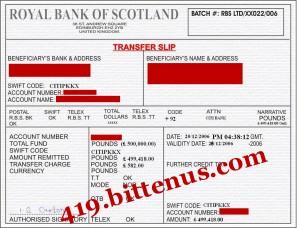a transfer receipt - Deutsch Übersetzung - Englisch Beispiele ...