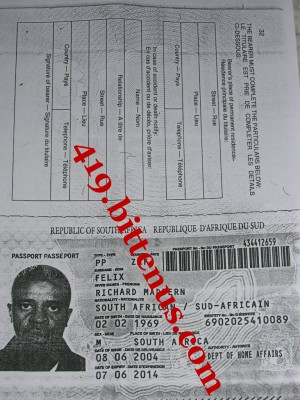 Richard maddern felix passport