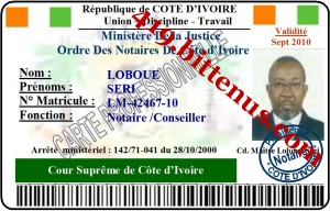 drivers license id card cote d 39 ivoire. Black Bedroom Furniture Sets. Home Design Ideas