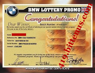 Bmw certificate