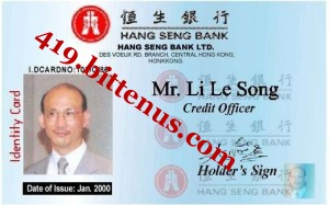 Drivers License / ID card - China