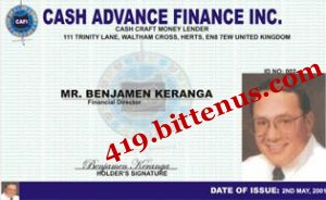 CASH ADVANCE FINANCE INC