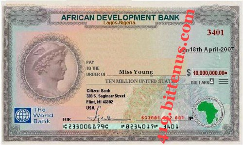 African Development Bank, $10,000,000