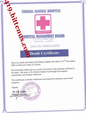 my father daeth certificate