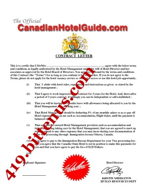 100% original papers & letter of introduction hotel