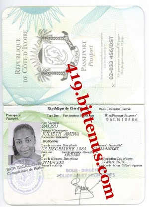 Amina salisu Int passport