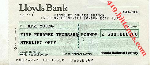 Lloyds Bank, £500,000