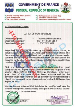 Qualification Verification Letter