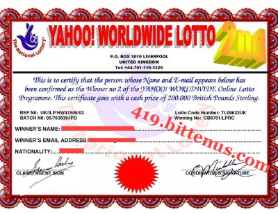 YAHOO_WORLDWIDE_LOTTO_Winner_Certificate