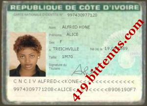 ALICE IDCARD FRONT