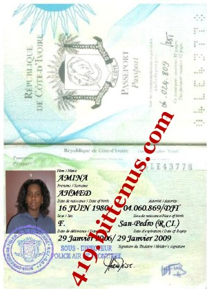 AMINA PASSPORT COPY