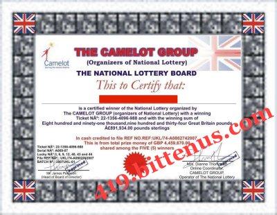 419bittenus Lottery Winning Certificates – Winner Certificates