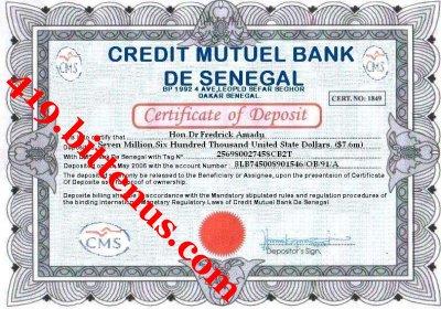 Certificates of deposit senegal - Credit islamique chaabi bank ...