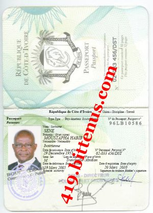 PASSPORT  MOUSTAPHA SENE CONSUL