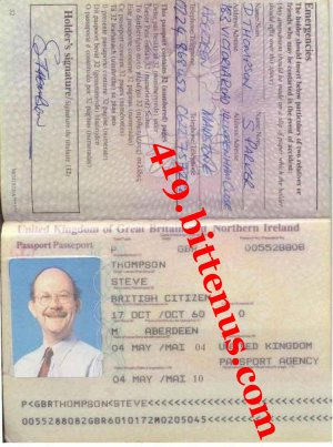 STEVE THOMPSON PASSPORT