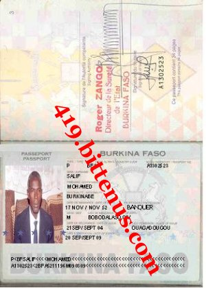 Salif mohamed passport