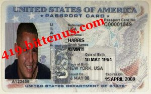 Alvin Harris Passport photo
