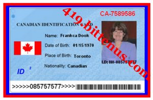 Canadian National I.D Of Mrs.Franka Dook