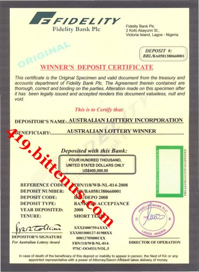 Certificates Of Deposit Nigeria