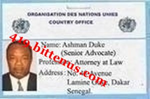 United Nation Identity card