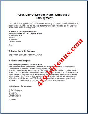 Mrhorans10commerceclass topic 4 l4 types of employment contract employment contract platinumwayz
